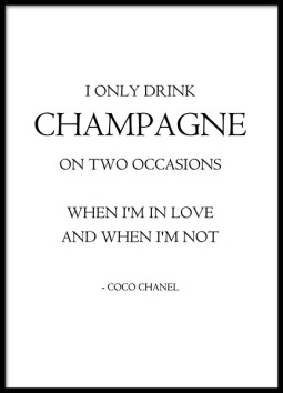 76048 I only drink champagne 50x70